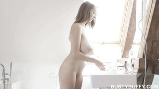 Lucie Wilde have a best big natural breast ever, solo x clip with sex toy dildo