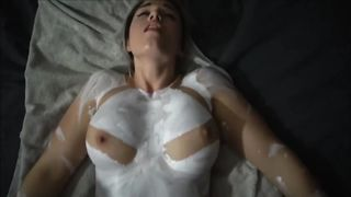 Sex with body painted girl - Violet Moreau  - HD 720p