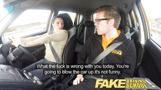 18 YO Brithish Girl - Fake Driving School - HD 720p