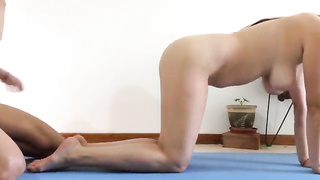 I fucked my sister pussy in doggy style while she was doing yoga