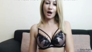 busty blonde babe on cam