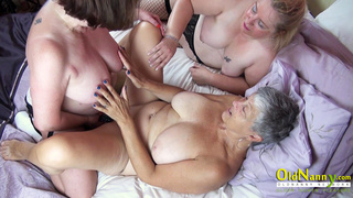 OldNannY Three Matures using Toys on Sexclinic