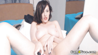 Hot Short Hair Playing Her Pussy