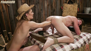 Fisting for male, femdom kink bdsm cowboy and cowgirl