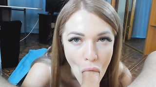 She Wants this Big Hard Cock in Her Sexy Mouth