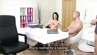Surprise Threesome Sex on A XXX Casting
