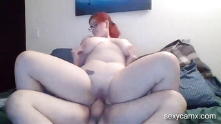 Big curvy redhead suck and gets pounded hard live at sexycamx