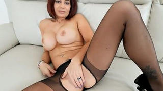 Spicy Stepmom in pantyhose gets fucked