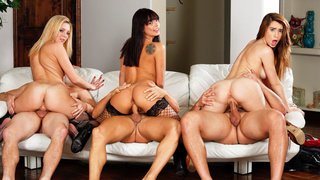 3 horny wives sharing their husbands