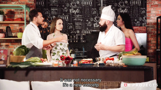 Hot Threesome At The Cook Show (Full Video, English Subs) 1080p HD
