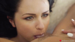 Kittina Clairette & Cristal Caitlin Lesbian Sex 2019