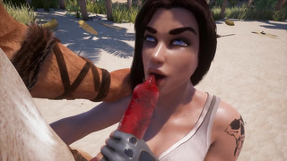 Wild Life Sex Game Gameplay - Lion and human female sex