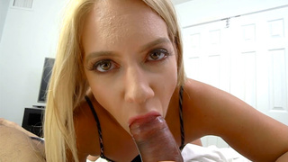 My MILF stepmom helped me out with my morning wood