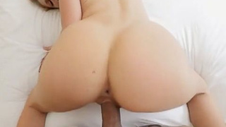 Blonde stepmother with bubbly ass fucked