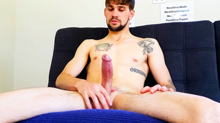 Skinny guy at the porn casting