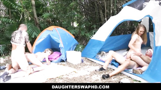 Two Dad's Swap Teen Daughters during Camping Trip - Alyssa Cole, Haley Reed