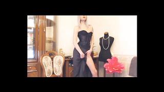 Tranny In Elegant Black Dress
