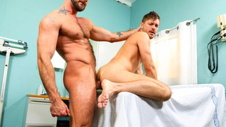 Gay pornstars Jessie and Jack at doctor