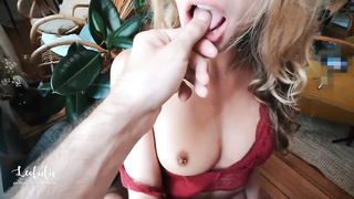 PornHub 2019 LeoLulu In Red Lingerie Hot Fucking