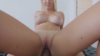 Neglected MILF stepmom rides on my cock
