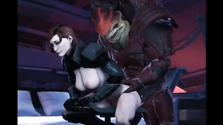 Wrex Femshep Mass Effect Game Porn