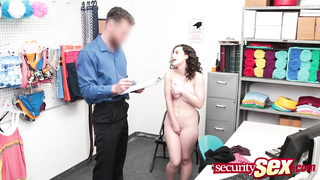 Cute shoplifter with nice ass and tits