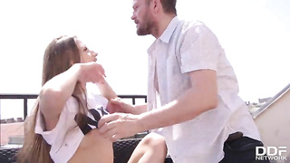 Sex scandal, step-dad fuck daughter (2019) Stella Flex