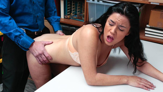 Latina thief bends over for cock