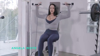 Sexy busty babe Angela White fucks after workout (2019)