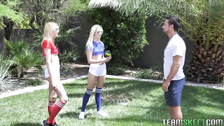 Family sex with 2 sisters Football Fuckers - Charlotte Sins, Kenna James
