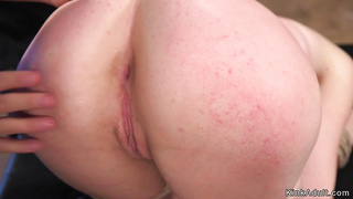 Big butt slave spanked and banged