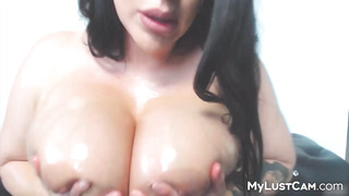 homemade show091619 - bigtits, oiltits, oiled, solo, amateur, lotion, bigboobs, milf, hugetits, brunette