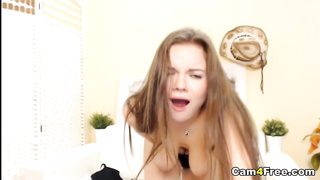 Hot and Gorgeous Blonde Babe Dildoing Pussy