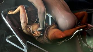 The Silent Hill Nurse Anal Sex 3D Loop SFM HD 720p