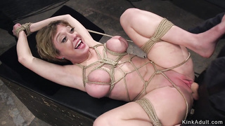 Huge tits Milf anal fuck in pile driver