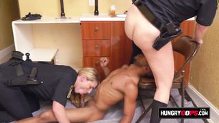 Pussy licking while a cop sucks a cock