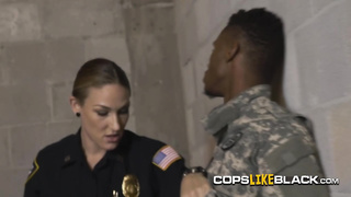 Female cops get their asshole munched