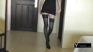 Asian cute slut with sexy pantyhose
