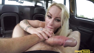 Fake Hub, Fake Taxi - Big breasted blonde Euro MILF (2019) John Bishop, Petite Princess Eve