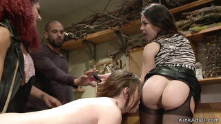 In flower shop babe takes dick up ass
