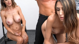 Threesome punish fuck with shoplifters 2 video