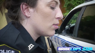 Tattooed busty cop only wants black cock
