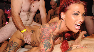 extreme fuck orgy with extreme tattooed milf