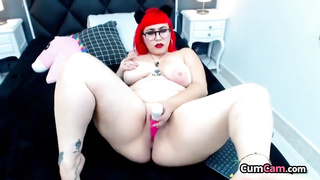 Amazing Amateur BBW Red Hair And Tattoos