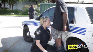 Desiring female cops gobble up