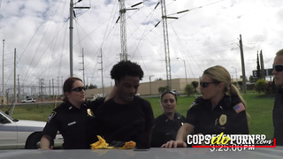 Black rapper tries to run from a hot cop