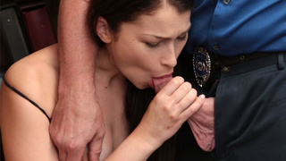 Nasty babe busted by a bad policeman
