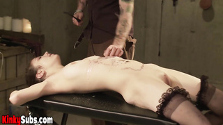 Amateur Cats first time BDSM experience