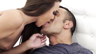 Brunette Amirah Adara gives sensual rimjob and ass fingering