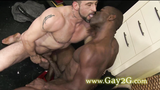 two sexy gays making hot blowjob